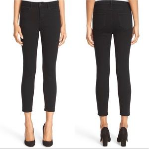L'AGENCE Margot Black High Waist Crop Jeans